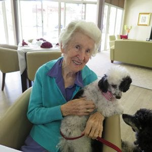 Arcare_Aged_Care_Helensvale_Lois_Dogs