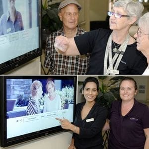Arcare Aged Care Overton Lea Sydenham Story Touchscreen