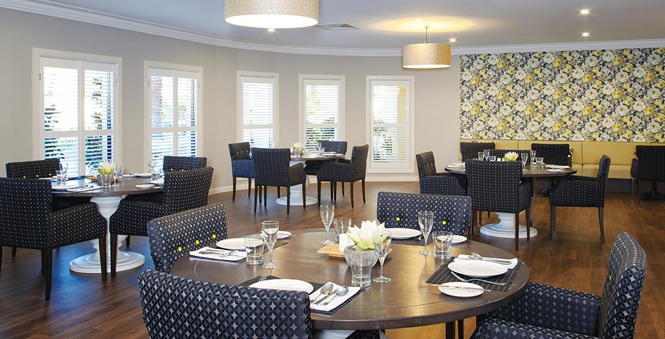 Arcare Aged Care Regency Hope Island Dining Room