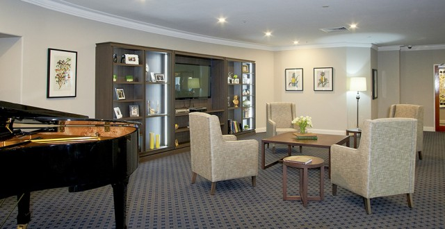 Arcare Aged Care Regency Hope Island Piano Lounge