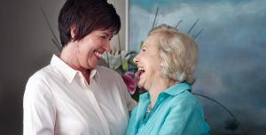 Arcare Aged Care Resident and Daughter