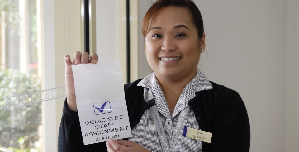 Arcare aged care Cheltenham Dedicated Staff Assignment Certified