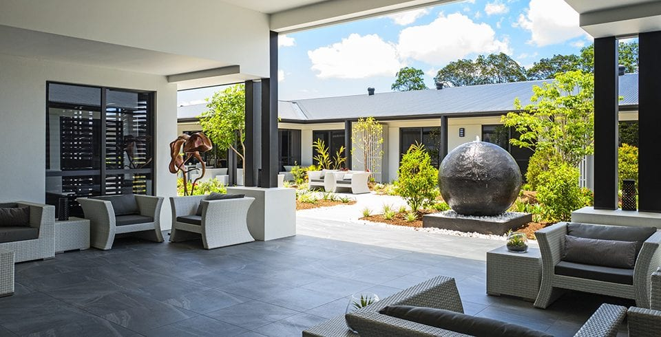 Arcare Aged Care Parkinson Courtyard