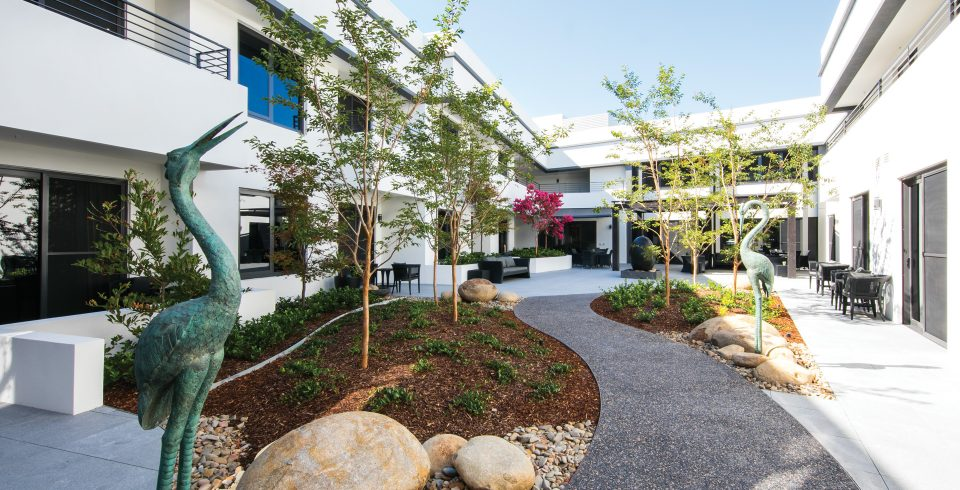 Arcare Aged Care Parkview Malvern East Courtyard