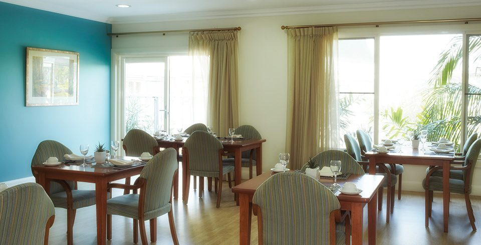 Arcare Aged Care North Lakes Endeavour Dining Room 960x490