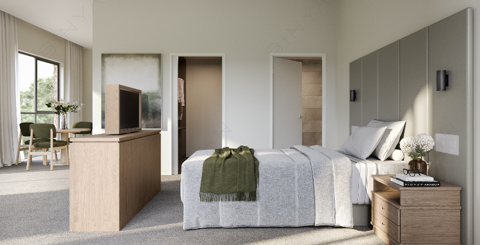 Arcare Aged Care Essendon Suite Render
