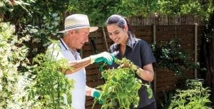 Arcare Home Care Gardening With Support Worker
