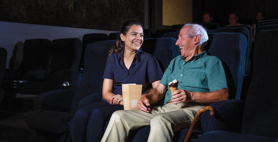 Arcare Home Care Trip To The Cinemas