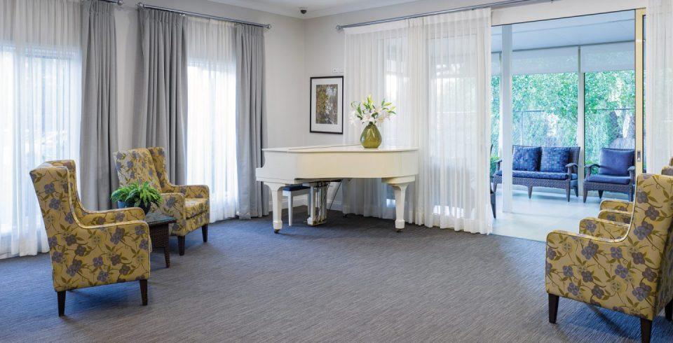Arcare Aged Care Cheltenham Piano Lounge
