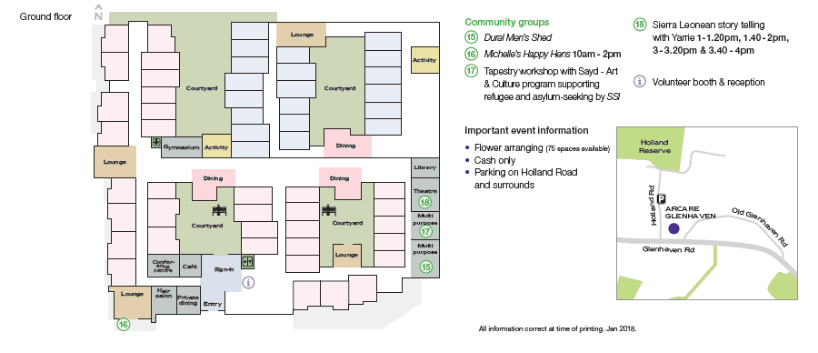 Glenhaven Community Market Day Map And Programme 2