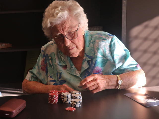 An Intense Game Of Poker At Arcare Eight Mile Plains Arcare