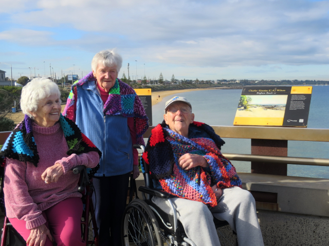 Arcare Aged Care Cheltenham 29.7.19 Photo2 Clients Lilian,Moira And Hubert