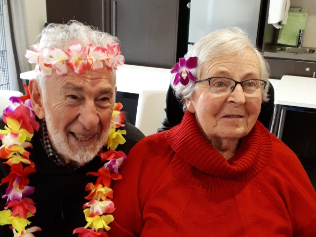 Arcare Aged Care Reservoir Cultural Day Photo 2 Couple 2 Beryl 7 Joe Perone Fiiji Day