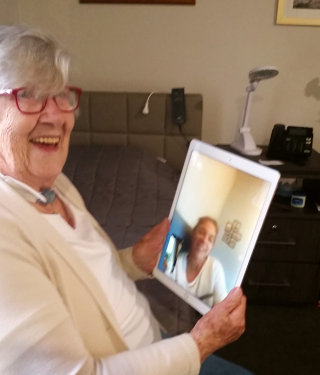 Arcare Aged Care Carnegie Liz Video Chat