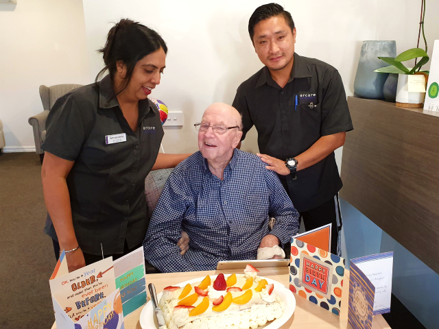 Arcare Aged Care Carnegie Ray Birthday
