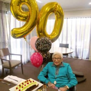 Arcare Aged Care Caulfield 90th Birthday Judith
