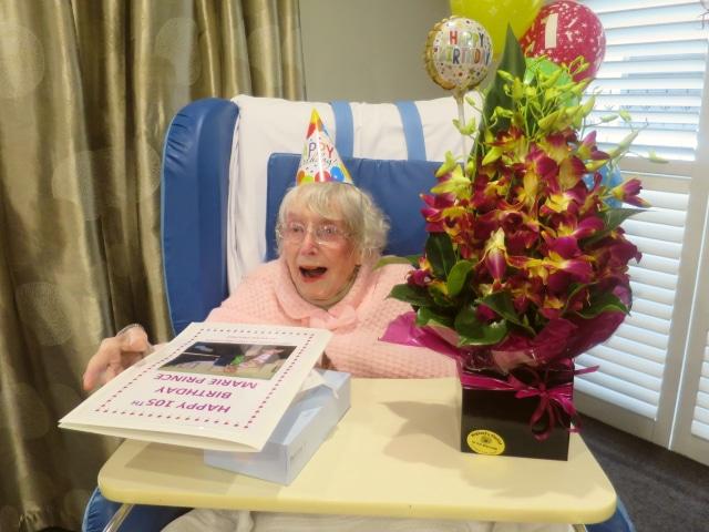 Arcare Aged Care Caulfield Marie 105th Birthday