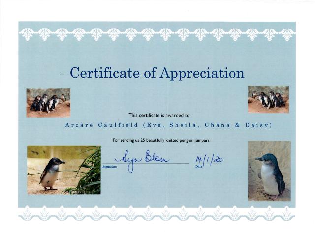 Arcare Aged Care Caulfield Penguin Appreciation