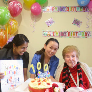 Arcare Aged Care Caulfield Sara 100th Birthday