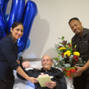 Arcare Aged Care Cheltenham Norman Briggs 100th Birthday