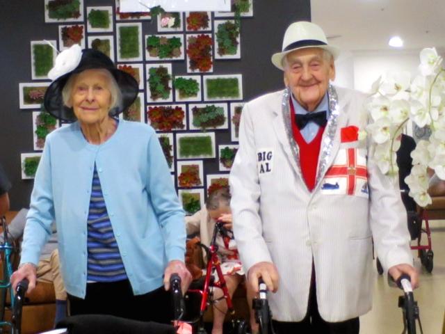 Arcare Aged Care Cheltenham Oaks Day 2019 Couple
