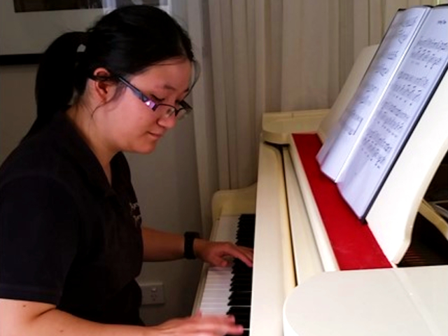 Arcare Aged Care Cheltenham Playing Piano For Clients