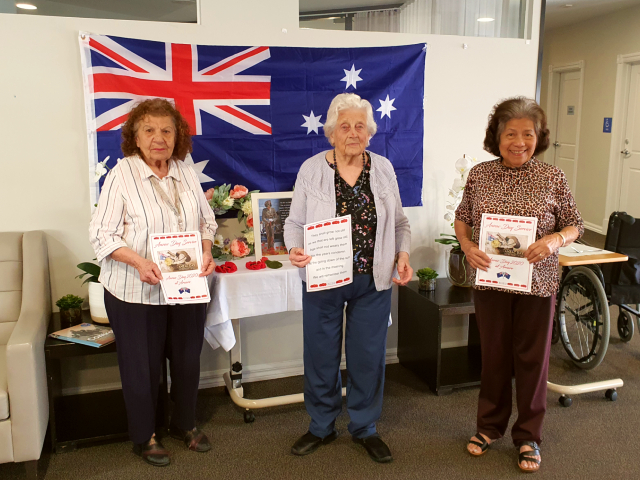 Arcare Aged Care Epping Anzac Day 2020
