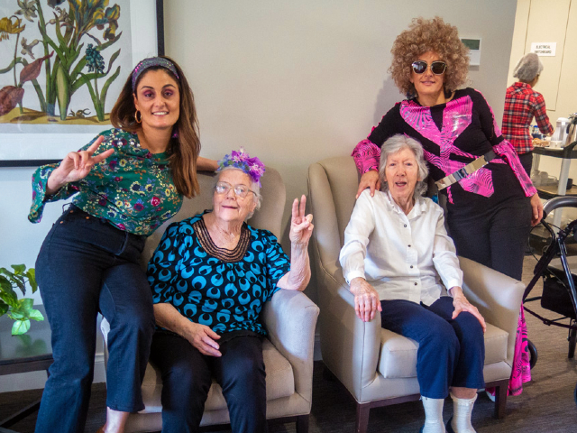 Arcare Aged Care Hillside Disco swinging sixties