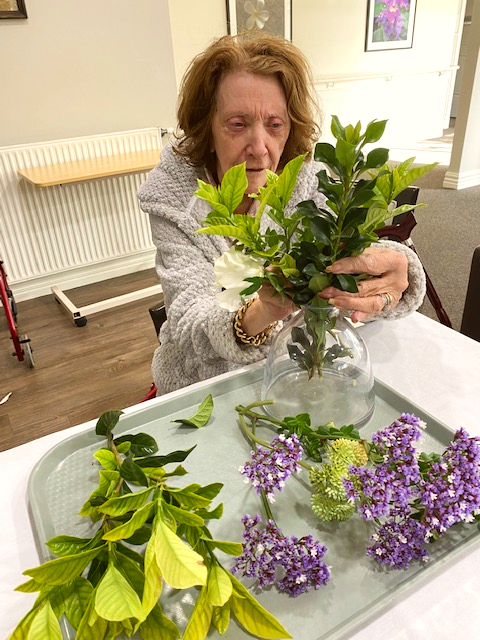Arcare Aged Care Maidstone Flower Arranging