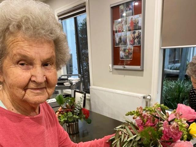 Arcare Aged Care Maidstone Margaret Miriam Flower Arranging