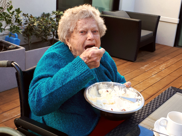 Arcare Aged Care Reservoir Courtyard Cooking