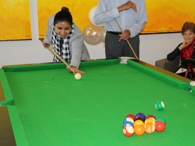 Arcare Aged Care Surrey Hills Pool Table Opening 6