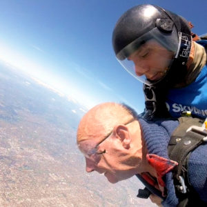 Arcare Aged Care Sydenham Barry Ewens Skydiving